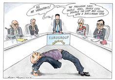 Οι προσπάθειες του Γιάνη Βαρουφάκη στο Eurogroup για μία συμφωνία... γέφυρα [σκίτσο] | iefimerida.gr