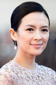 Zhang Ziyi wearing a lavender Elie Saab Couture spring 2013 – 'La Venus A La Fourrure' 2013 Cannes Film Festival Premiere