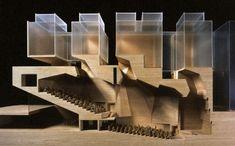 pablohumanes:  Grafton Architects, model of the enlarging of Bocconi University in Milan, 2008. via