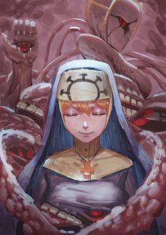 最和藹可親的修女double ヽ( ° ▽°)ノ #Skullgirls #Double