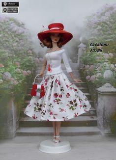 """Robe Barbie """" Andréa """" Vêtement pour poupée Barbie Silkstone Fashion Royalty f3788"""