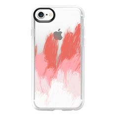 Shades of Flamingo - iPhone 7 Case And Cover ($39) ❤ liked on Polyvore featuring accessories, tech accessories, iphone case, iphone cases, apple iphone case, clear iphone case and iphone cover case