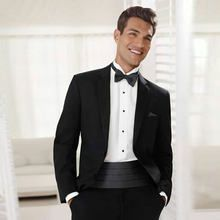 Online Shop Tailor Black Peaked Lapel Men's suits for wedding suit Groom Tuxedo Blazer Coat Pants Slim Fit Prom Terno Masculino Costume Homme Traje Black Tie, Black Tie Suit, Black Tie Tuxedo, Slim Fit Tuxedo, Tuxedo Suit, Tuxedo For Men, Slim Suit, Black Tuxedo Wedding, Groom Tuxedo Wedding