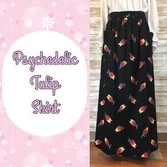 I just added this to my closet on Poshmark: Vintage Psychedelic Tulip Skirt Pockets. Price: $28 Size: 14