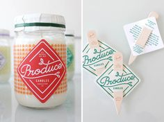 Produce Candles Packaging