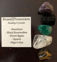 Just got my healing crystals for travel from #sevenstonesLA today they are beautiful. #Amethys