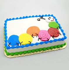 Decorating Cake At Home Ideas Einfache Cake Piping-Ideen Order Birthday Cake, Birthday Sheet Cakes, Spring Cake, Summer Cakes, Cake Decorating Techniques, Cake Decorating Tips, Pastel Rectangular, Walmart Cakes, Sheet Cakes Decorated