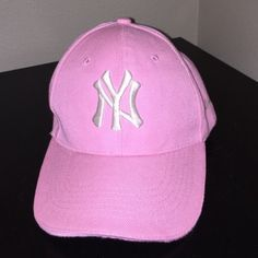 pink and white New York Yankee hat Yankees hat with Velcro like new  condition. not Nike Nike Accessories Hats d8e89809c0cb