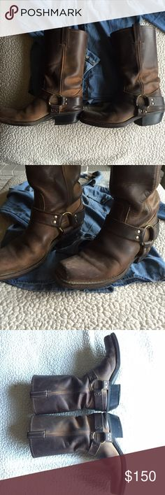 Frye boots Gorgeous waterproof leather boots. These are pre-loved, but I haven't worn them in a couple of years and they are ready for a new home. No offers on this item, please. I offer a discount of 30% off bundles of 3 or more. Frye Shoes Combat & Moto Boots