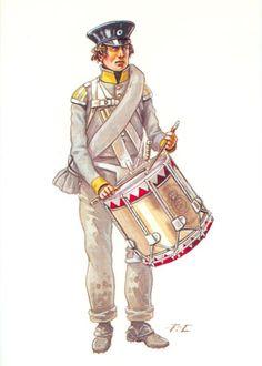 Prussian Infantry  Infanterie18è à Waterloo- Tambour - 1815