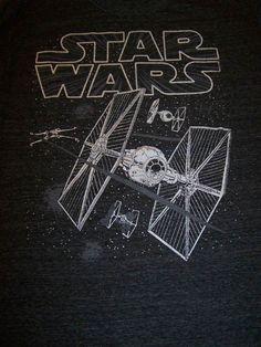 Star Wars mens charcoal black T shirt size Large L fighters $22.83 via bamabreeze