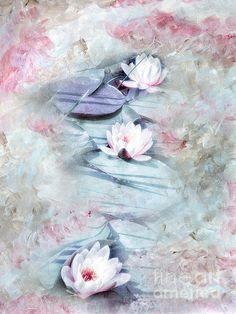 Summer Lily Pond Print By Viaina