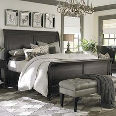 Really like the look of this bedroom. Maybe add a splash of color that you can change with the seasons.