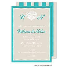 Seashell luau invitations alt=