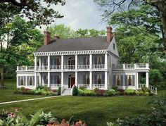 Plantation House Plan with 3833 Square Feet and 3 Bedrooms from Dream Home Source | House Plan Code DHSW01996