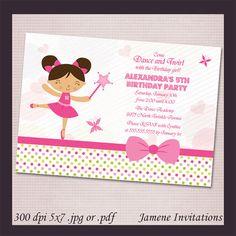 Ballerina girls birthday party digital by JameneInvitations, $14.99