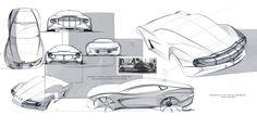 Bristol Cars - Exterior sketches