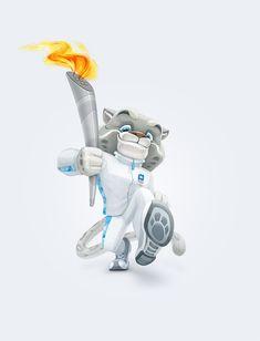 Olympic Mascots by Alina IVANOVA, via Behance