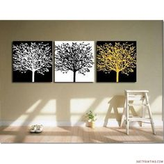 Canvas Wall Art | Abstract Paintings 3pcs Canvas Set Modern Acrylic on Canvas Wall Art ...