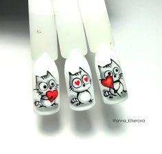 <img> Holiday nails stiletto valentines day Ideas for 2019 - Cartoon Nail Designs, Nail Art Designs, Pink Nail Art, Acrylic Nail Art, Nail Drawing, Animal Nail Art, Cat Nail Art, Valentine Nail Art, Cat Nails