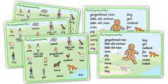 The Gingerbread Man Word Mat - The Gingerbread Man, word mat, writing aid, traditional tales, tale, fairy tale, gingerbread, little old man, little old woman, fox, run run