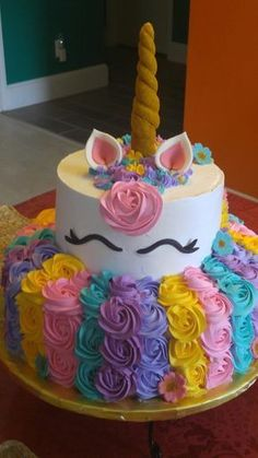 56 Trendy Ideas For Party Ideas Unicorn Cake Unicorn Birthday Parties, Unicorn Party, Birthday Party Decorations, Party Themes, Birthday Ideas, 5th Birthday, Unicorn Cakes, Cake Birthday, Unicorn Baby Shower