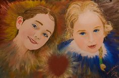 """My Daughters Aimee and Ella"" Daughters, To My Daughter, Oil Paintings, Princess Zelda, Creative, Fictional Characters, Art, Cute, Art Background"
