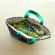 パタンパタンと折りたたんで縫うだけ!のバックインバッグの作り方 | nunocoto