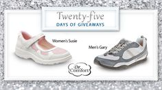 Today's day 9 of our #25DaysofGiveaways and we are happy to give away Dr. Comfort shoes.   Dr. Comfort shoes are designed with the input of podiatrists and are manufactured to a high standard of foot wellness. Enter to win a pair of comfortable Dr. Comfort shoes here.