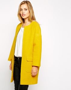Studio 4 London Cocoon Coat in Boiled Wool - This cocoon coat is perfect to brighten up those dull winter days! http://asos.to/1s9lV76