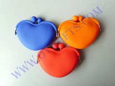 Fashion Heart Lady/Girl/Women Silicone coin purse