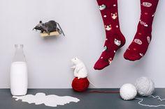 Playful Cat - ManyMornings - Skarpetki