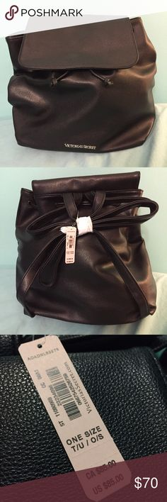 Brand NEW!! Victoria's Secret book bag 🎒 Brand NEW Victoria's Secret leather book bag! Never used, still in original packaging. Adjusts with the pull of the string. Includes long strap still in the packaging. Originally $85! 🎒👛 Victoria's Secret Bags Backpacks