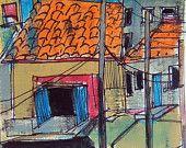 Shanty Town Original Artwork Human Rights, Urban Decay, Original Artwork, The Originals