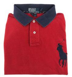 Ralph Lauren Custom Fit XL Polo Shirt Mens Short Sleeve BIG PONY Red Men Size Sz #PoloRalphLauren #Polo