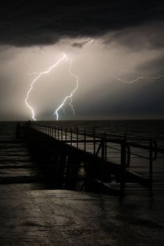 Summer Lightening storms on the water; helllo summer.