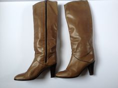 Vintage Leather Boots. Knee High Boots. Italian Women Boots. Ladies Boots. Brown Leather Boots. Vintage Leather Boots. Knee High Boots US 6 by Tukvintage on Etsy