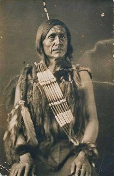 Pass-pass-chase (aka Pa-pas-tis, aka John Kiwenis), in Edmonton, Alberta - Cree (Two Hills Band) - circa 1886