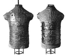 European armor from a mass grave, battle of Visby, fought in July 1361 on the Swedish Baltic island of Gotland, between invading Danish troops and the local, Gutnish, forces. The Danish won a decisive victory. Due to the heat, the dead had to be disposed of quickly, and many were buried in their armor. The archaeological excavation of one of the mass graves, in the 1930s, revealed over 1000 skeletons.