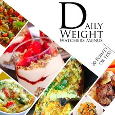 5 Day Weight Watchers Menus with 20 Points or Less #weightwatchers #weightloss #healthymeals