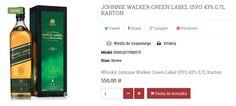 SZKOCKA WHISKY JOHNNIE WALKER GREEN