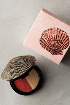 DuWop Seashell Compact - anthropologie.com