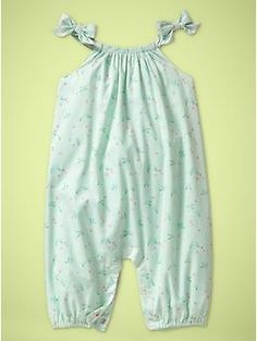 Printed bow romper | Gap Summer (6-9 Month Olds)