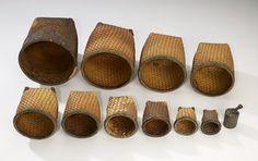 Group of Eleven Nested Baskets, Turka