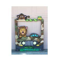 Jungle Party- Safari Birthday- Jungle Car- Safari Animals- Safari Shower- Zoo Prop- Safari truck- Ca - Cafe Racer Jungle Party, Safari Party, Safari Jungle, Safari Theme Birthday, Jungle Theme Parties, Baby Boy 1st Birthday Party, Safari Birthday Party, Party Animals, Animal Party