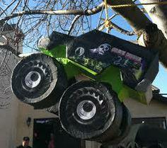 monster truck birthday party ideas - Google Search Digger Birthday Parties, Digger Party, 5th Birthday Party Ideas, Party Themes For Boys, Boy Birthday, Monster Trucks, Monster Truck Birthday, Monster Party, Monster Jam