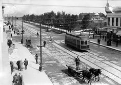 A view of 5 Street South, Lethbridge, Alberta, 1912. Grandma lived on 9th street south