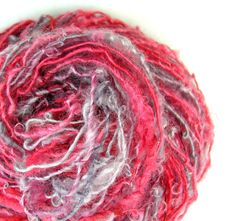 Textured Yarn  Handspun Yarn Art Yarn by TheSavvyStitch on Etsy