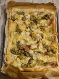 Sfoglia con carciofi, cotto e camembert, ricetta Sfoglia con carciofi, cotto e camembert - alfemminile.com