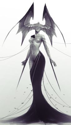 3d Fantasy, Fantasy World, Dark Fantasy, Character Concept, Character Art, Concept Art, Art And Illustration, Arte Tim Burton, Ange Demon